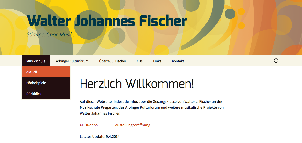 Walter Fischer Website Screenshot