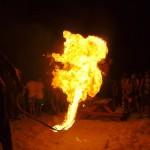 Feuer-Sprungschnur