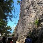 Die volle Kletterwand