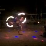Allabendliche Feuershow