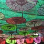 Schirme im Jetty