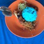 Blauer Frühstücksreis