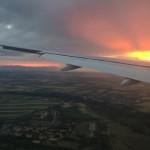 Landeanflug auf Wien